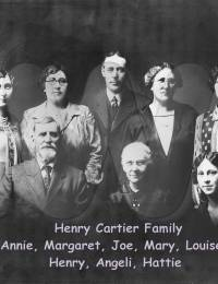 Henry Cartier and Angelique Quenneville family photo