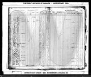 1861 Census of Canada - Canada East, Veudreuil, census district 2, page 250