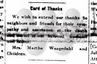 1917 June 2, Holt Weekly News, Card of Thanks