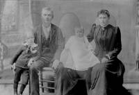 Sam and Anna Carlson with sons Arthur and Bert, ca. 1893.