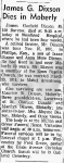 1967-02-27 Moberly Monitor, page 4, Obituary for James Garfield Dixson