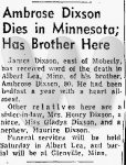 1956-05-18 Moberly Monitor, page 5, Samuel Ambrose Dixson death announcement