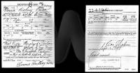 1917-1918 US WWI Draft cards - Clarence A. Cartier