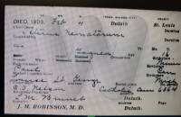Death Certificate Baby Girl Gagne 1903 of Napoleon Paul Gagne